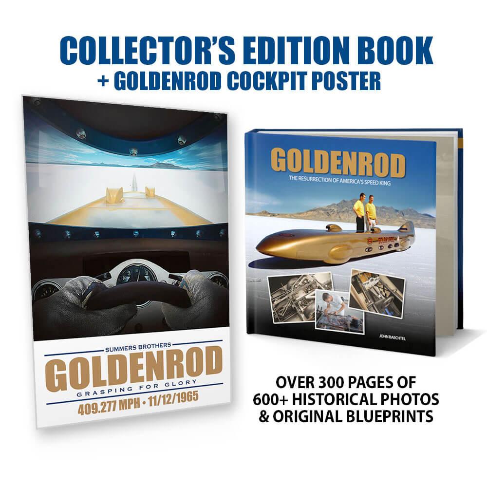 Bonneville Land Speed Record - Goldenrod Book + Cockpit Poster